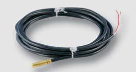 teplotní sonda PT100, sonda z nerezi, 6 x 25 mm silikonový kabel 2 m