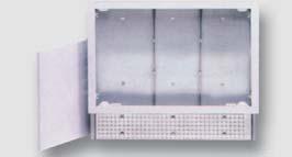 kovová vestavná skříň pro rozdělovače topných systémů