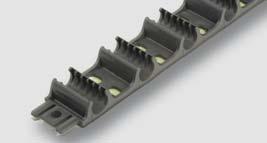 fixační lišta pro potrubí s roztečí 50 mm