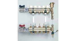plně osaz. rozdělovač pro podlahové vytápění, by-pass / přívod G1