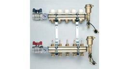 plně osazený rozdělovač pro podlahové vytápění / přívod G1