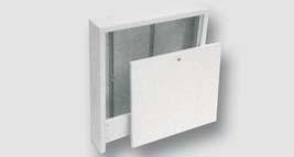nástěnná venkovní kovová skříň pro rozdělovače topných systémů