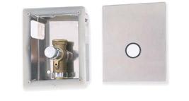 nerezový box včetně splachovacího ventilu pro WC