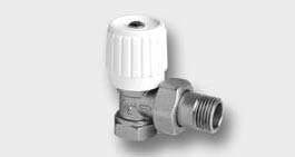 Rohový radiátorový ventil jednoregulacní
