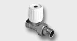 Přímý radiátorový ventil jednoregulacní