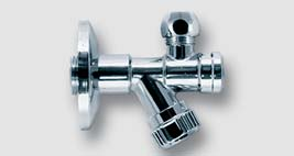 """rohový ventil s filtrem a matkou 1/2"""" x 3/8"""" / 10 mm"""