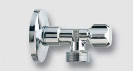 rohový ventil bez matky 1/2'' x 3/4'' s růžicí z nerez oceli