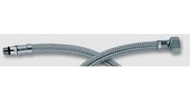 opletené nerezové připojovací hadičky / M8 x 1 - 3/8''